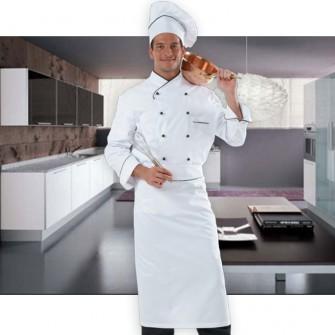 Cirri collection abbigliamento professionale divisa cuoco colore bianco rifiniture nero - Abbigliamento da cucina ...